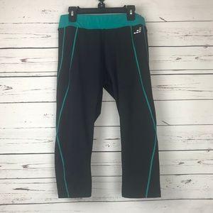 bcg Workout Pants Size Medium Black Neon Green
